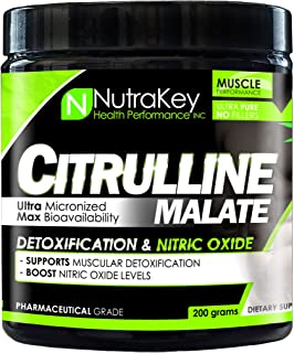 NutraKey Citrulline Malate Powder, 0.4LB(Package might vary)