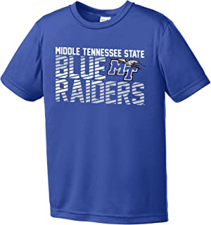 Image One NCAA Middle Tennessee State Blue Raiders Youth Boys Diagonal Short sleeve Polyester Competitor T-Shirt, Youth Sm...