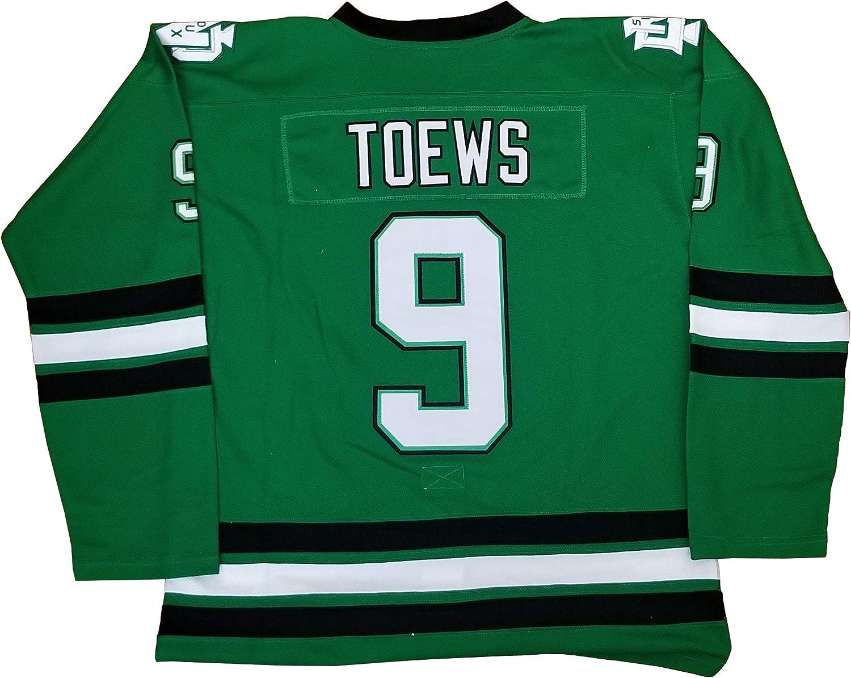 Kooy Toews 9 North Dakota Sioux Green Jersey Men Hockey