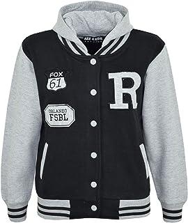 ed6afbbfcb3b5 A2Z 4 Kids Enfants Filles Garçons R Fashion Fox Baseball Encapuchonné Veste  Varsity Sweat À Capuche