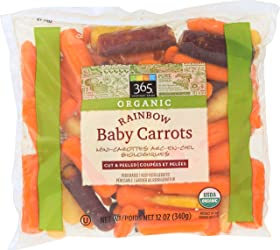 365 Everyday Value, Organic Rainbow Baby Carrots, 12 oz