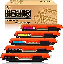 CMYBabee Reemplazo de Cartuchos de tóner compatibles para HP 126A (CF341A) 130A (CE310A) CF350A para HP Laserjet Pro CP1025 CP1025nw Color M175a M175nw M176FN M177FW TopShot M275 M275NW(5 Paquete)