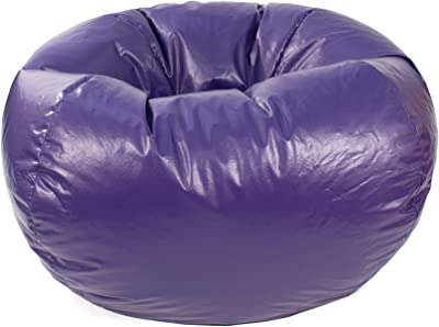 Gold Medal Bean Bags Medium Leather Look Beanbag, Tween Size, Purple