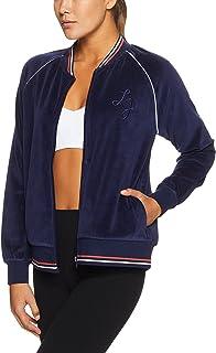 Lorna Jane Women's Luxe Lounge Bomber Jacket, Ink