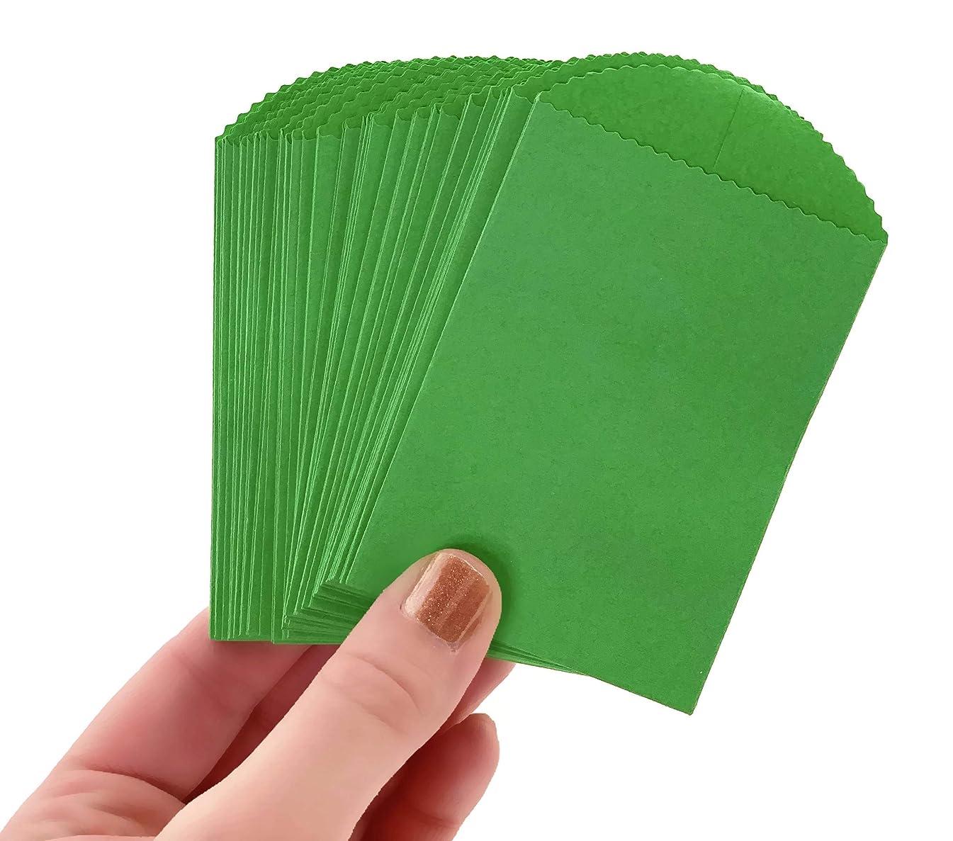 50 Mini Green Paper Bags - 4