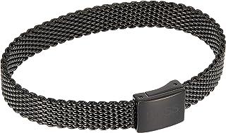HUGO BOSS MEN'S IONIC PLATED BLACK STEEL BRACELETS -1580038M