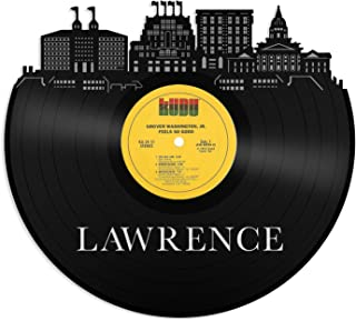 VinylShopUS - Lawrence Kansas Vinyl Wall Art with Out Framed City Skyline Best Gift Office and Bedroom   Home Decoration