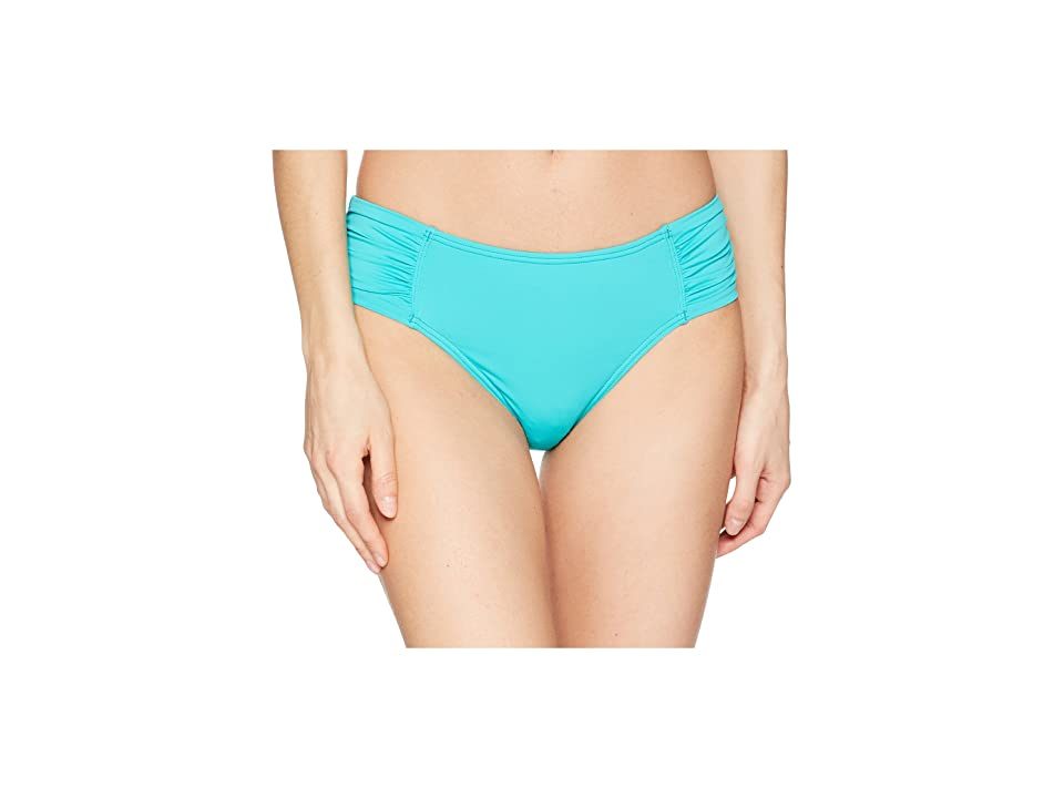 Tommy Bahama Pearl High-Waist Side-Shirred Bikini Bottom (Ming Jade) Women