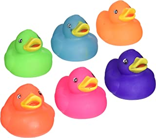 Rhode Island Novelty 2 Inch Solid Color Rubber Duck (12 Piece)