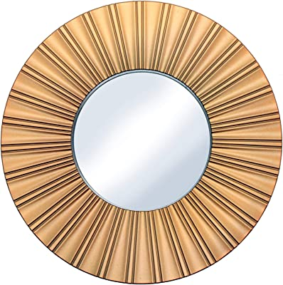 A Vintage Affair Mirror for Bathroom Bedroom Decorative Wall Mounted Hanging Mirror - Designer Round Gold Plastic Frame - Small Size
