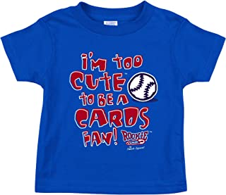 Chicago Cubs Fans. I'm Too Cute. Blue Onesie (NB-18M) and Toddler Tee (2T-4T) (3T)