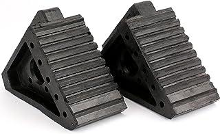Fasmov Solid Rubber Heavy Duty Wheel Chock -2 Pack