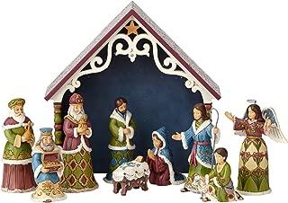 Enesco Jim Shore Heartwood Creek One Holy Night Victorian Mini Nativity 10-Piece Set Figurine
