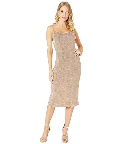 Bardot Dani Lurex Knit Dress (Rose Gold) Women