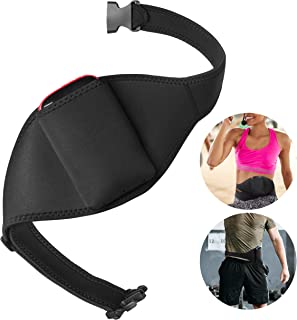 Mic Belt for Fitness Instructors - Vertical Microphone Transmitter Carrier Belt - Keep Your Mic Transmitter Secure - Fitness Class/Public Speaking/Theatre - Durable and Machine Washable