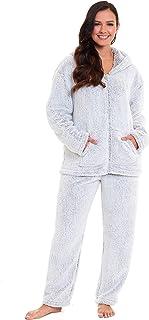 Ladies Pyjamas Women Girls PJ's Comfy Super Soft Teddy Sherpa Fleece Snuggle Warm Cosy Pyjama Sets Lounge Wear Fluffy Flec...