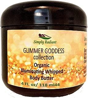 Organic Diamond Body Shimmer Whipped Body Butter – Sexy Sparkle For Natural Skin Radiance – Chemical Free Shimmering Moisturizer - Glimmer Goddess