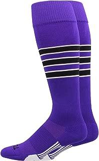 MadSportsStuff Dugout 3 Stripe Baseball Socks (Multiple Colors)