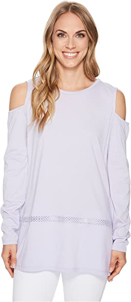 MICHAEL Michael Kors - Long Sleeve Cold Shoulder Insert Top