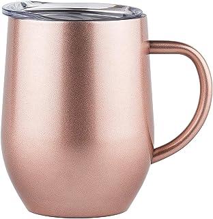 COLOCUP マグカップ 真空ステンレス 真空断熱 二重構造 タンブラー 保温・保冷 340ML (ゴールド)