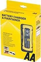 AA Battery Charger & Maintainer, For 6V & 12V Lead Acid and Gel Batteries - Black/Yellow