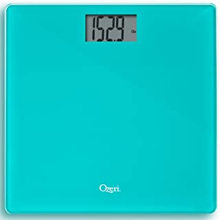 Ozeri Precision Digital Bath Scale (400 Lbs Edition), In Tempered Glass With Step-on Activation