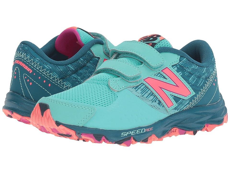 New Balance Kids KE690V2Y (Little Kid/Big Kid) (Green/Pink) Girls Shoes