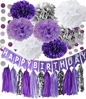 Best purple and silver first birthday Reviews