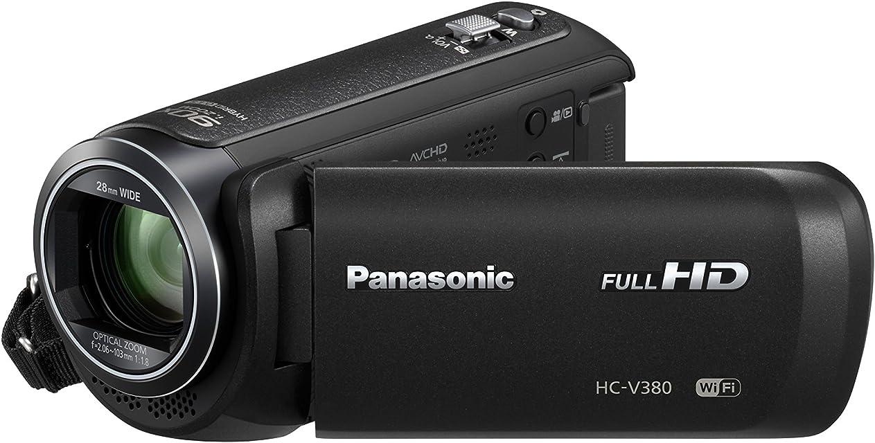 Panasonic HC-V380EG-K Full HD Soporte de - Videocámara (2.51 MP Mos BSI 25.4/5.8 mm (1/5.8) 1.67 MP 2.2 MP 50x) (versión importada)