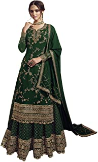 RUDRAPRAYAG anarkali georgette and santoon suits for women | anarkali gown for women readymade | gown for women semi-stitc...