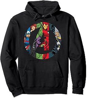 Marvel Avengers Group Shot Comic Fill Logo Sweat à Capuche