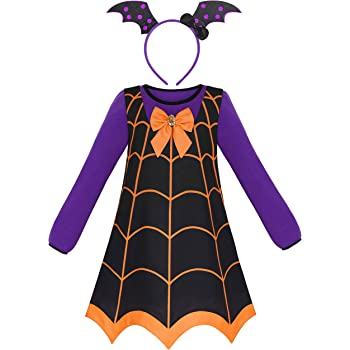 Sunny Fashion Vestido para niña 3 Piezas Vampiro Disfraz de ...