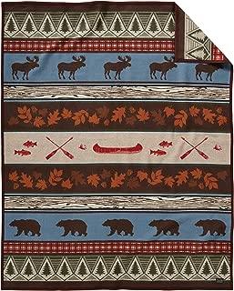 Pendleton Pine Lodge Wool Blanket, Brown, Queen Size