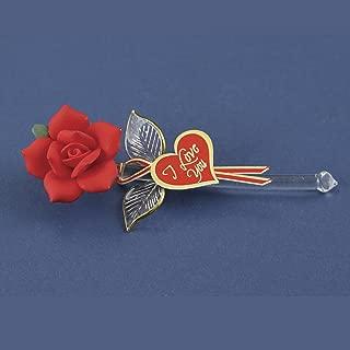 Glass Baron Rose Red I Love You Figurine