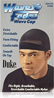 Duke Waves & Fades Wave Cap, Black, 2 Ea, 1count