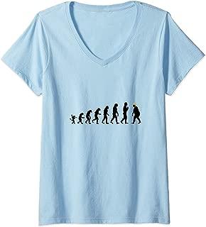 Womens Funny trump parody tshirt Trump Evolution man women and kids V-Neck T-Shirt