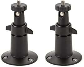 Wasserstein Adjustable Metal Wall Mount Compatible with Arlo Ultra, Pro, Pro 2 Pro 3 & Other Compatible Models (2-Pack, Black)