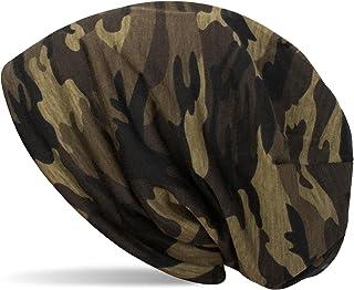 styleBREAKER Beanie Mütze mit Camouflage Muster, Slouch Longbeanie, Unisex 04024129