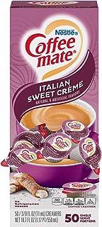 Coffee-mate 84652 Liquid Coffee Creamer, Italian Sweet Creme, 0.375 oz Cups (Box of 50)
