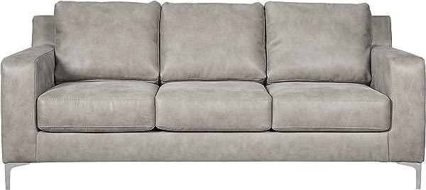Ashley Furniture Signature Design Ryler Contemporary Upholstered Sofa Steel