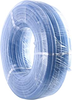 uxcell PVC Tubing 3//4 Inch X 9.8 Ft Clear Braided Flexible High Pressure Hose Tube