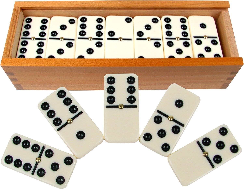 salida Hey. Hey. Hey. Jugar. Premium conjunto de 28doble seis fichas w funda de madera juego  barato y de alta calidad