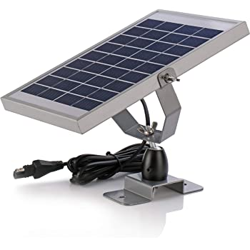 Amazon Com Suner Power 6v Waterproof Deer Feeder Solar Battery Trickle Charger Maintainer 5 Watts Solar Panel Built In Intelligent Mppt Solar Charge Controller Adjustable Mount Bracket Sae Cable