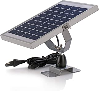 SUNER POWER 6V Waterproof Deer Feeder Solar Battery Trickle Charger & Maintainer - 5 Watts Solar Panel Built-in Intelligent MPPT Solar Charge Controller + Adjustable Mount Bracket + SAE Cable Kits