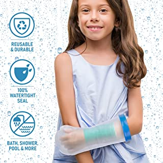 Waterproof Arm Cast Cover for Shower. Reusable, Thick Adjustable Protector Bag to Keep Casts and Bandages Safe and Dry. Full Watertight Protection For Broken or Injured Hands, Wrists, Wounds, Burns.