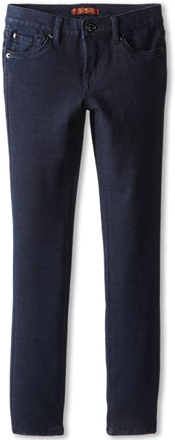 7 For All Mankind Kids Skinny Jean in Indigo Ponte Knit (Big Kids)