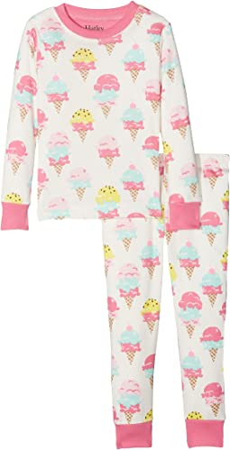 Hatley Kids - Ice Cream Treats Long Sleeve Pajama Set (Toddler/Little Kids/Big Kids)