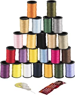 SINGER 00264 Polyester Hand Sewing Thread, Assorted Colors, 24 Mini-Spools