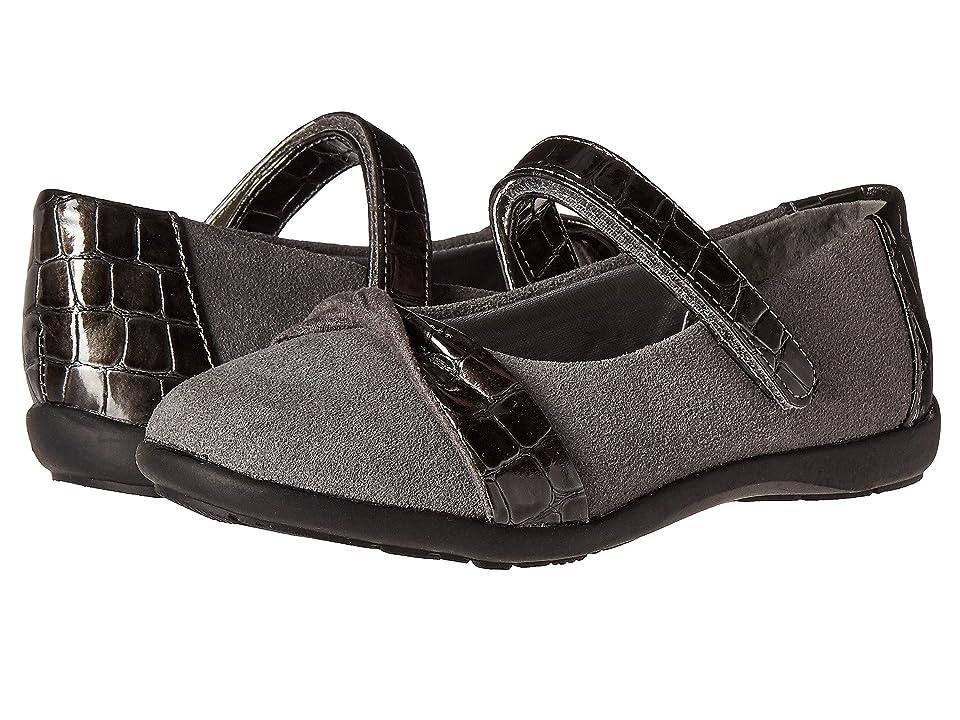 Jumping Jacks Kids Balleto Twist (Toddler/Little Kid/Big Kid) (Pewter Suede/Croco) Girls Shoes