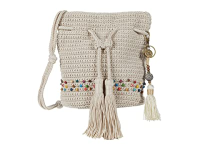 The Sak Sayulita Mini Drawstring (Ecru Multi Beads) Handbags